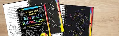 mermaid adventure scratch and sketch an art activity book for