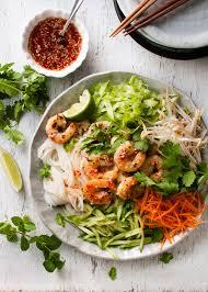 noodle salad recipes vietnamese noodle salad with shrimp prawn recipetin eats