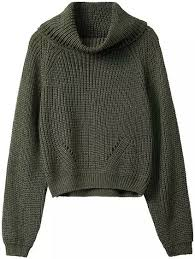 green sweaters cowl neck sweater
