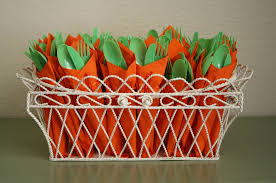 easter party carrot cutlery