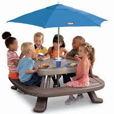 little tikes easy store picnic table little tikes easy store picnic table with umbrella buy kids picnic