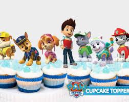 paw patrol cupcake toppers paw patrol centerpiece paw patrol