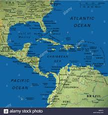 Map Of Colombia South America by Caribbean Map Stock Photos U0026 Caribbean Map Stock Images Alamy