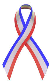 blue support ribbon white and blue bow clipart