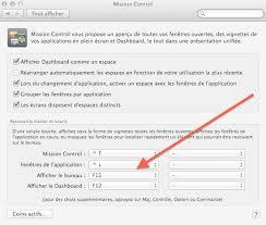raccourci pour afficher le bureau bureau présentation réglages accès rapides et dashboard mac