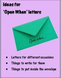 Ideas For Letters The 25 Best Open When Letters Ideas On Boyfriend