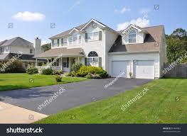 beautiful suburban split level mcmansion home stock photo 87494923