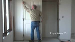 Installing Interior Sliding Doors How To Install Prehung Interior Doors