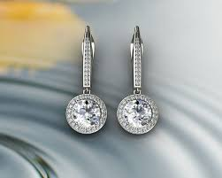 dimond earings diamond earrings 3d printable model cgtrader