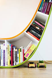 decorating funky unusual bookcases for stylish living room decor
