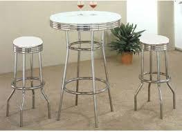 3 piece counter height table set soda fountain in retro chrome 3 piece counter height bar table set