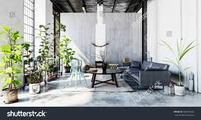 Grey Interior Well Lit Room Couch Coffee Table Stock Illustration 560444722