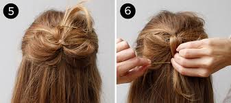 bow hair how to create a half up hair bow using your own hair more