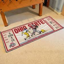 Ohio State Runner Rug Ohio State Buckeyes 30 X 72 Ticket Runner Area Rug Floor Mat