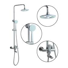 online get cheap double shower head mixer aliexpress com 50269 double function new bathroom chrome round 8