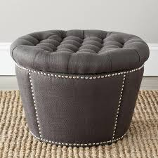 Ottoman With Storage Elegant Round Ottoman With Storage With Safavieh Mercer Charcoal