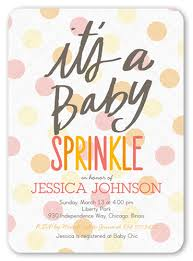 what is a sprinkle shower baby sprinkle girl 5x7 greeting card baby shower invitations