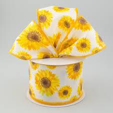 2 5 sunflower ribbon yellow orange brown 10 yards rg01175n7