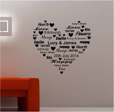personalised word heart vinyl wall art quote sticker love blog personalised word heart vinyl wall art quote sticker love