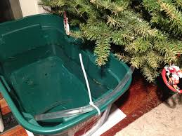 leaving your tree for a days set up a reservoir