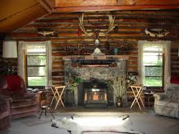 Log Cabin Area Rugs by Log Cabin Decorating Ideas With Framed Art And Leather Furniture