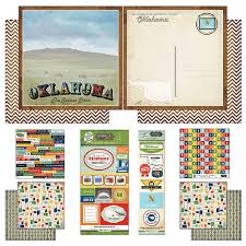 Oklahoma travel stickers images Scrapbook customs themed paper and stickers scrapbook jpg