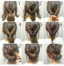 easy messy buns for shoulder length hair 60 easy step by step hair tutorials for long medium and short