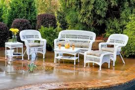 White Wicker Outdoor Patio Furniture - white wicker patio furniture 5 best deals
