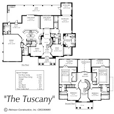 Florida Home Floor Plans The Tuscany Atkinson Construction Inc Citrus Marion Levy