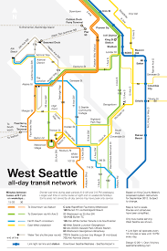 Downtown Seattle Map by Simple Map Of West Seattle Transit In 2012