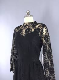 vintage 1960s black lace cocktail dress thisbluebird modern