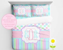 Personalized Comforter Set Personalized Bedding Set Pink Bow Duvet Cover Or Comforter