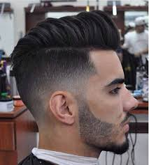 hair cut with a defined point in the back the actual greatest hairstyle on point 25 amazing mens fade