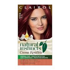 black hair to raspberry hair amazon com clairol natural instincts crema keratina hair color