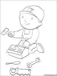 coloring bob builder tools coloring pages