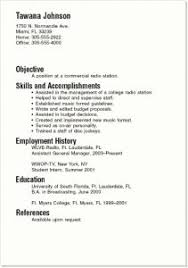 College Student Resume For Summer Job by Enjoyable Resume Example For College Student 4 Summer Job Samples
