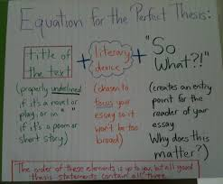 write a good thesis statement thesis statement formula for literary analysis reading and
