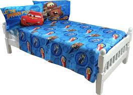 fun race car bedroom decor 4pc disney cars full bed sheet set