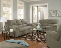 Living Room  Glossy Liz Dickson Blue Transitional After Whole - Whole living room sets