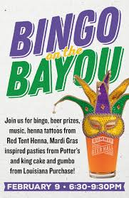 mardi gras bingo summit bingo on the bayou summit brewing company