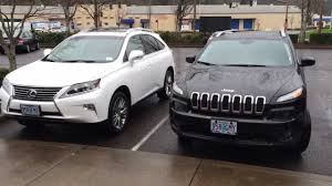 lexus jeep rs 300 review 2014 lexus rx350 vs 2014 jeep cherokee youtube