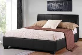 beds awesome leather bed frames black leather platform bed king