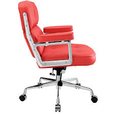 Leather Chairs Office Get The Beauty Of Color By Buying Red Office Chair For Your