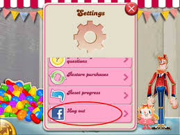 crush for android how to log out crush saga on mini iphone or