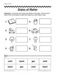 13 best images of matter changes worksheet printable states of