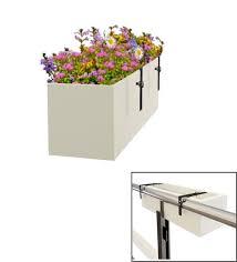 buy railing hanging stylish box tray planter 24 x 7 x 7 by