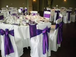 Purple Chair Covers Wedding Chair Cover Hire