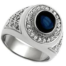 stainless steel mens rings blue dome silver stainless steel mens ring ebay
