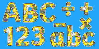 themed letters simple literacy display lettering also themed display