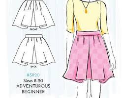 pattern for simple long skirt simple skirt pattern etsy